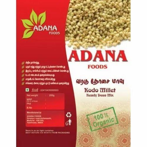 Adana Foods Kodo Millet, Packaging Size: 500gm