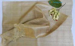 Handloom Tussar Silk Fabric 50 Gsm
