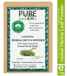 Hair Dying Natural Pure Organic Henna Leaf Powder, for Personal, Packaging Size: 1 Kg