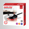 Nirlon Fry Pan With Stainless Steel Lid