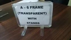 A 5 Transparent Frame