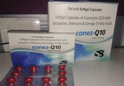 Coenzyme Q10 100mg Omega Fatty Acid Ecosapentaenoic Acid 90mg Docasahexaenoic Acid 60mg Lycopene 400