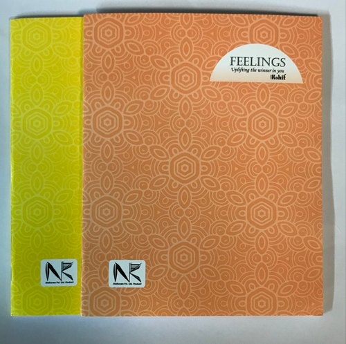 Feelings A4 Small Size Notebook, Size: 20 *26cm