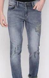 Mens Branded Distressed Denim Jeans