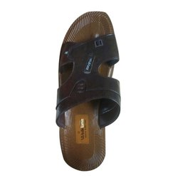 Walkline Brown Mens Synthetic Leather Slipper