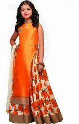 Orange Previous Stylish Lehenga For Girls
