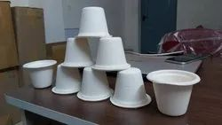 White Plain Sugarcane Bagasse Eco Cups, For Party