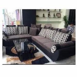 5 Modern Designer L Shape Sofa Set, Back Style: Pillow Back