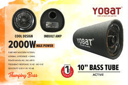 Yobat Pure Mdf Wooden Car Active Bass Tube, Bluetooth
