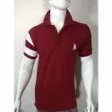 Mens Maroon Polo T Shirt