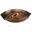 Pine Wood Oblong Food Dish