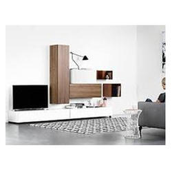 Light Wood Wooden TV Stand