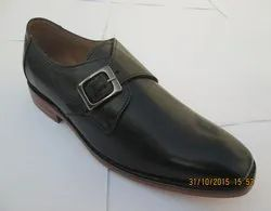 Mens Slip On Buckle Leather Shoe