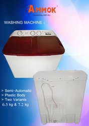 AK-6.5 Capacity(Kg): 6.5 Kg Washing Machine, White And Ruby Red