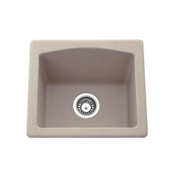 Cream Ceramics Quartz Carysil Sinks, Shape: Round