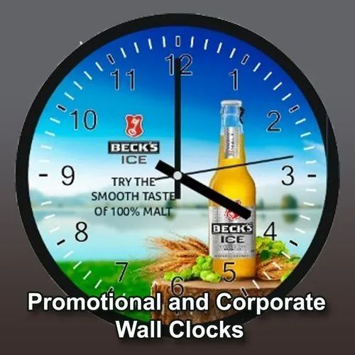 Promotional Wall Clock, For Brand Promotion, Size: 310 Mm