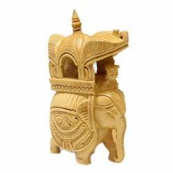 Wooden Ambabadi Elephant
