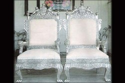 White Metal Wedding Chairs