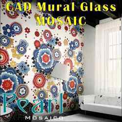 Glass Mosaic Tiles CAD Murals