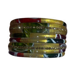 Party Wear Plain Bangle Set