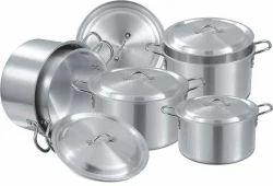 Silver Aluminium Utensils, For Home