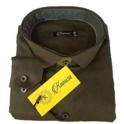 Cotton Collar Neck Mens Designer Shirt