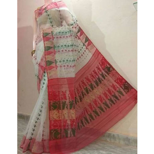 Pure Cotton Wedding Wear Jamdani Cotton Saree