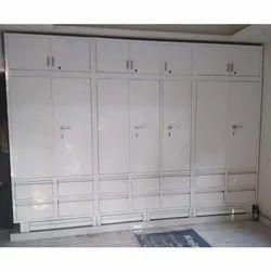 White SS Stainless Steel Wardrobe Cabinet