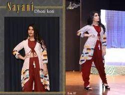 Rayon Cotton Sayani Dhoti Koti