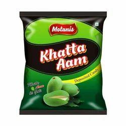 Green OVAL Khatta Aam Candy, Packaging: Carton, Packaging Size: 160 Pcs Per Pkt