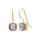 Wire Wrap Moonstone Cushion Shape Outfit Fashionable Hook Azura Model Gemstone Earring