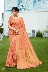 Silk Indian Saree with Blouse Piece