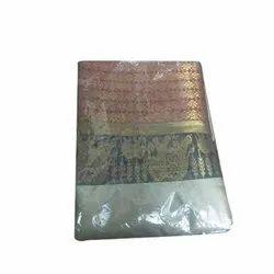 Wedding Wear Printed Pattu Silk Saree, 5.5 m (separate blouse piece), Packaging Type: Box