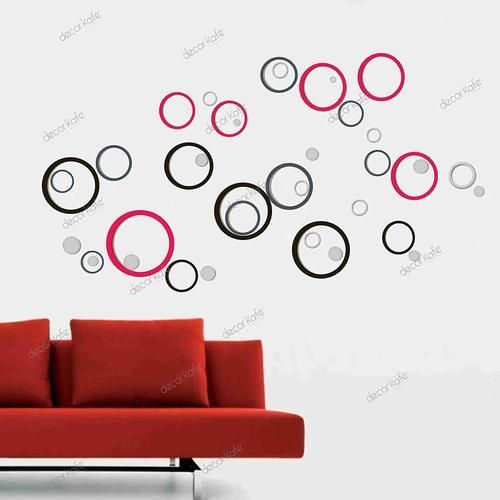 multicolor multiple decor kafe bubble dot circles wall decal wall