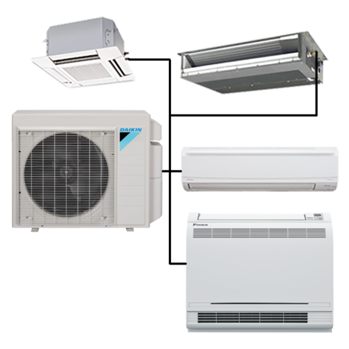 3 Tr Multi Split Air Conditioning System  Rs 24500   Ton