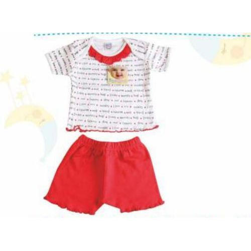 6e3327c2f145 100% Knitted Cotton White   Red Baby Suit