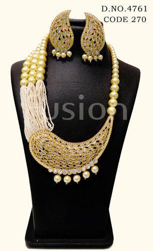 Traditional Antique Pearl Pendant Set