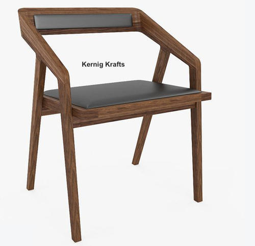 Wooden Hand Rest Modern Chair for Cafe, Warranty: 1 Year