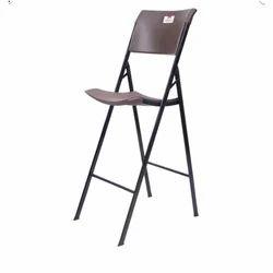 IRIS Ezee Brown Folding Bar Chair
