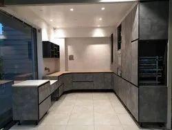 Wooden U Shape Modular Kitchen, Warranty: 5-10 Years