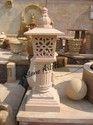 Stone Lamp Post
