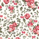 Rose Floral Print Rayon Fabric
