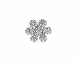 Chic Designs Black Pave Diamond Flower Bet Buckle