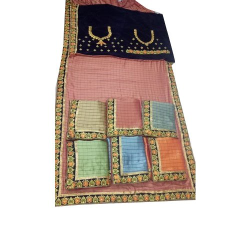 Embroidered Party Wear Kids Georgette Saree, Packaging Type: Packet