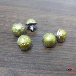 12mm Brass & Stone Dome Pearl Rivets Nickel