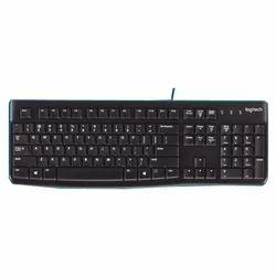 黑色罗技电脑键盘