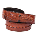 Brown Design Croc Leather Belts, Length - S|m|l|xl