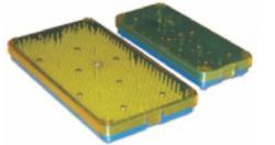 Small Plastic Sterilization  Tray with Strip