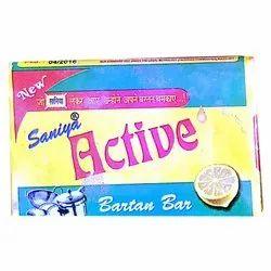 12 Months Saniya Active Lemon Fragrance Dishwash Bar, Packaging Type: Packet