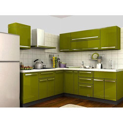 Residential L Shaped Modular Kitchen, Warranty: 1-10 Years
